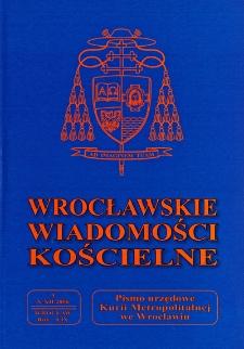 Wrocławskie Wiadomości Kościelne. R. 59 (2006), nr 4