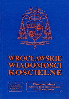 Wrocławskie Wiadomości Kościelne. R. 60 (2007), nr 3