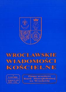 Wrocławskie Wiadomości Kościelne. R. 61 (2008), nr 4