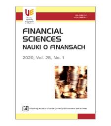 Spis treści [Financial Sciences = Nauki o Finansach, 2020, vol. 25, no. 1]