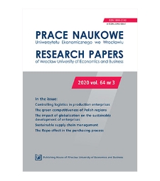 Factors determining pro-ecological behaviour and attitudes of clients of co-operative banks in Malopolskie Province