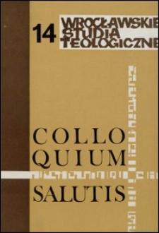 Colloquium Salutis : wrocławskie studia teologiczne. 14 (1982)