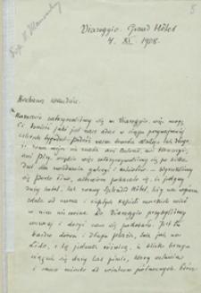 [Listy Henryka Sienkiewicza do Wandy Ulanowskiej z lat 1908-1913]