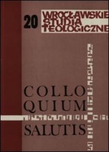 Colloquium Salutis : wrocławskie studia teologiczne. 20 (1988)