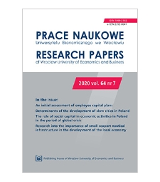 The role of social capital in economic activities in Poland in the period of global crisis
