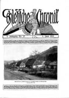 Schlesien : Illustrierte Zeitschrift für die Pflege heimatlicher Kultur. Zeitschrift des Kunstgewerbevereins für Breslau u. die Provinz Schlesien, 5. Jahrgang, 1912, 1 Juni, Nr 17