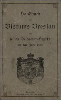 Handbuch des Bistums Breslau und seines Delegatur-Bezirks für das Jahr 1908