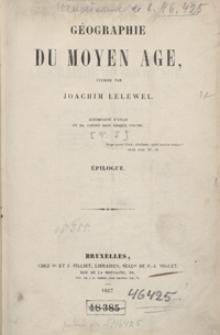 Géographie du moyen âge : épilogue