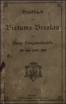 Handbuch des Bistums Breslau und seines Delegaturbezirks für das Jahr 1927