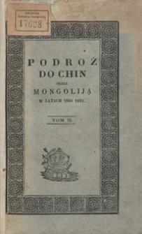 Podróż do Chin przez Mongoliją w latach 1820 i 1821. Tom II