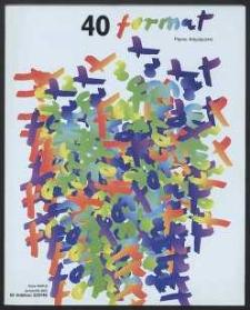 Format : pismo artystyczne, 2001, nr 3-4 (40)