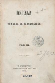 Dzieła Tomasza Olizarowskiego. Tom III