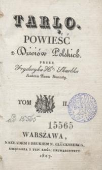 Tarło : powieść z dzieiów polskich. Tom II
