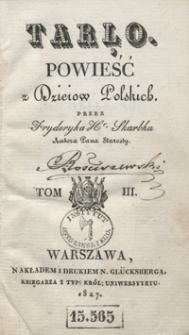 Tarło : powieść z dzieiów polskich. Tom III