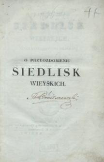 O przyozdobieniu siedlisk wieyskich : rzecz zastosowana do Polski. Tom 1