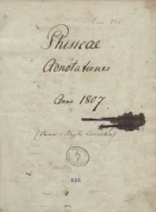 Physicae adnotationes anno 1807