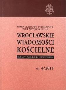 Wrocławskie Wiadomości Kościelne. R. 64 (2011), nr 4