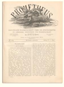 Prometheus : Illustrirte Wochenschrift über die Fortschritte in Gewerbe, Industrie und Wissenschaft. 4. Jahrgang, 1892, Nr 169