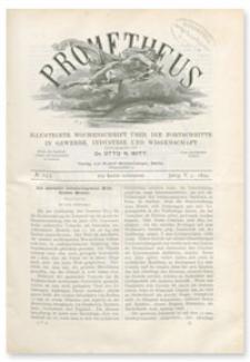 Prometheus : Illustrirte Wochenschrift über die Fortschritte in Gewerbe, Industrie und Wissenschaft. 5. Jahrgang, 1894, Nr 243