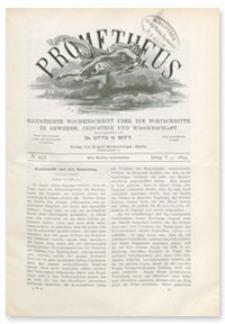 Prometheus : Illustrirte Wochenschrift über die Fortschritte in Gewerbe, Industrie und Wissenschaft. 5. Jahrgang, 1894, Nr 245