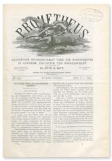 Prometheus : Illustrirte Wochenschrift über die Fortschritte in Gewerbe, Industrie und Wissenschaft. 5. Jahrgang, 1894, Nr 259