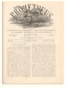 Prometheus : Illustrirte Wochenschrift über die Fortschritte in Gewerbe, Industrie und Wissenschaft. 4. Jahrgang, 1893, Nr 197